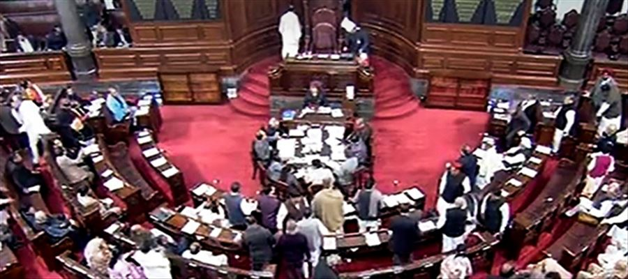 Is 10% reservation to economically backward a test in Rajya Sabha?